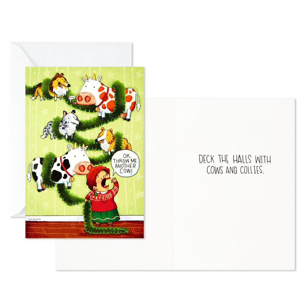 Funny Christmas Picture.Santa And Friends Assorted Funny Christmas Cards Box Of 24