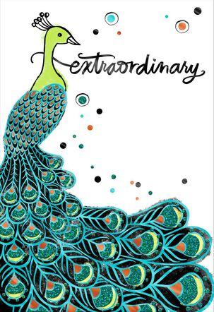 Extraordinary Peacock Congratulations Card