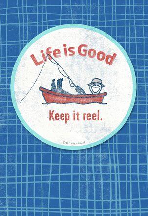 Life is Good® Fishing Coaster Birthday Card