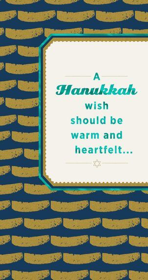 Gold Coin-Patterned Hanukkah Money Holder Card