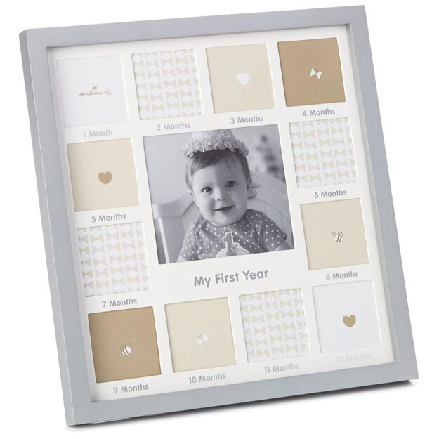 my first year collage picture frame - My First Year Photo Frame