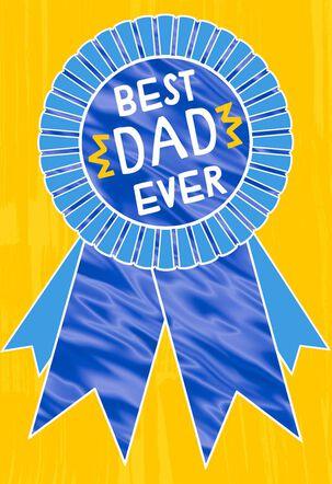 Award Ribbon Birthday Card for Dad