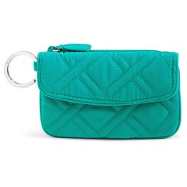 Vera Bradley Jen Zip ID Case in Turquoise Sea, , large