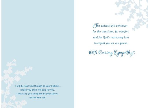 My Prayers for You Religious Sympathy Card,