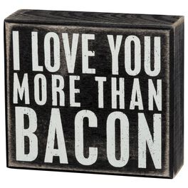 Primitives by Kathy I Love You More Than Bacon Box Sign, , large