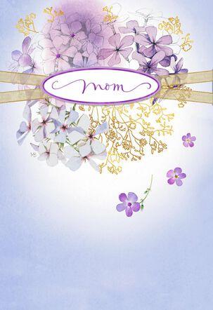 Marjolein Bastin Purple Flower Wreath Mother's Day Card