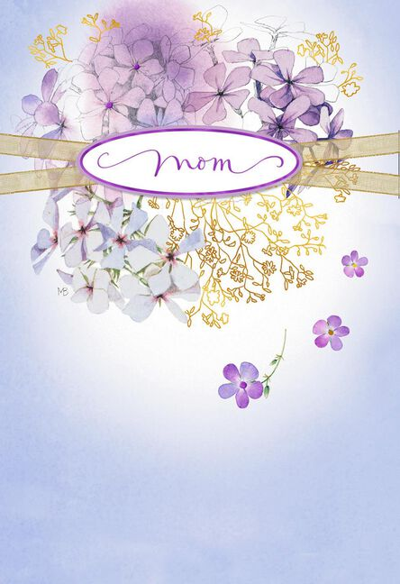 Marjolein bastin purple flower wreath mothers day card greeting marjolein bastin purple flower wreath mothers day card m4hsunfo