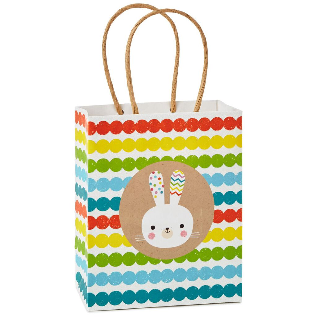 Easter bunny kraft small gift bag 65 gift bags hallmark easter bunny kraft small gift bag 65 negle Images