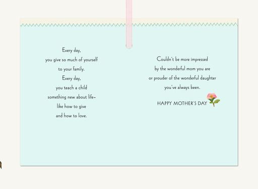 Impressed By You, Mother's Day Card for Daughter,