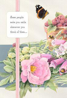 Marjolein Bastin You Make Me Smile Thinking of You Card,