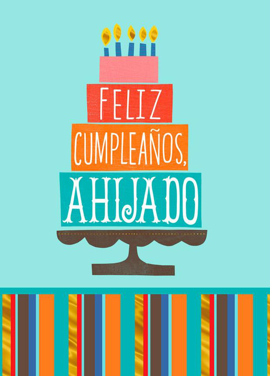 Love And Joy Spanish Language Birthday Card For Godson Greeting