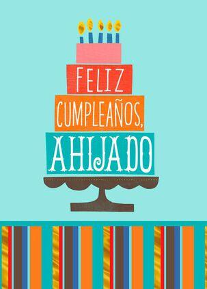 Love and Joy Spanish-Language Birthday Card for Godson