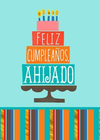 Love and joy spanish language birthday card for godson greeting love and joy spanish language birthday card for godson bookmarktalkfo Images