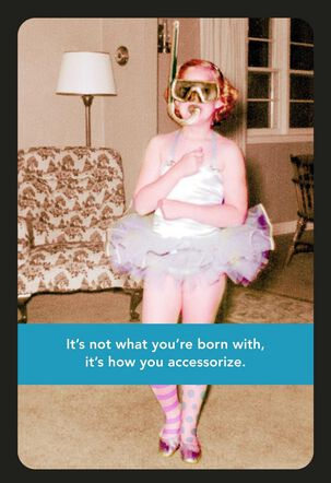Unique Style Funny Birthday Card