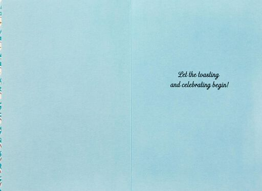 A Toast for You Wedding Card,