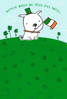Dog With Irish Flag St. Patrick's Day Card,