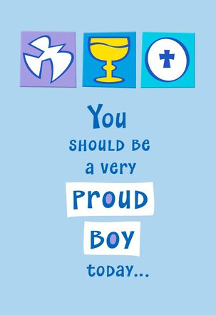 Proud Boy First Communion Card