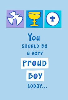 Proud Boy First Communion Card,