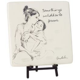 Hold Onto Forever Mother and Child Decorative Tile with Easel, , large