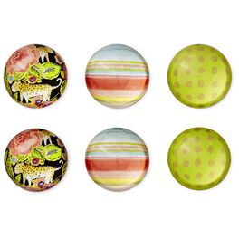 Haute Girls™ Tropical Paradise Glass Magnets, Set of 6, , large