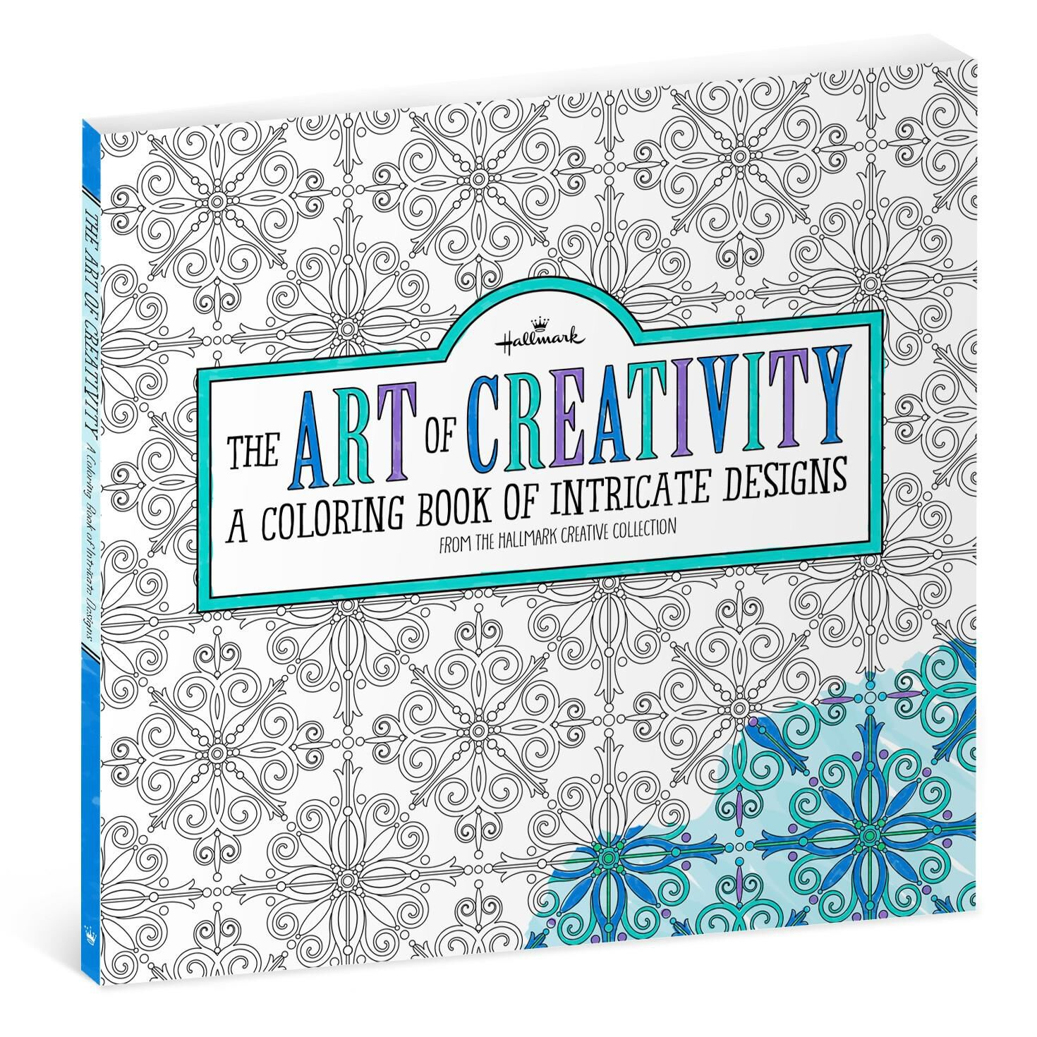 The Art of Creativity Intricate Designs Coloring Book for Adults ...