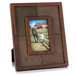 Colorblock Stained Wood Picture Frame, 4x6, , large