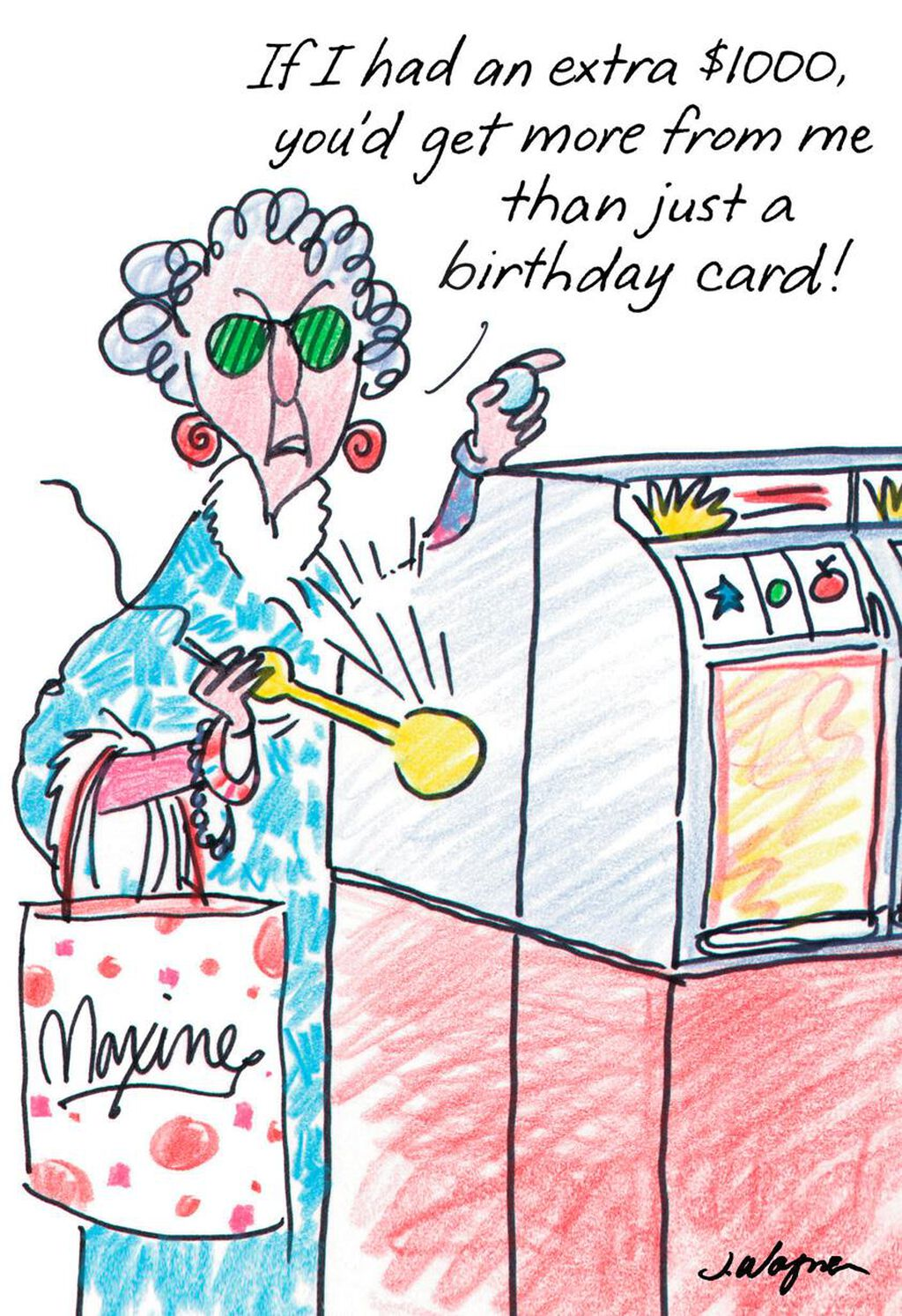 Maxine Postcard From Hawaii Funny Birthday Card Greeting Cards