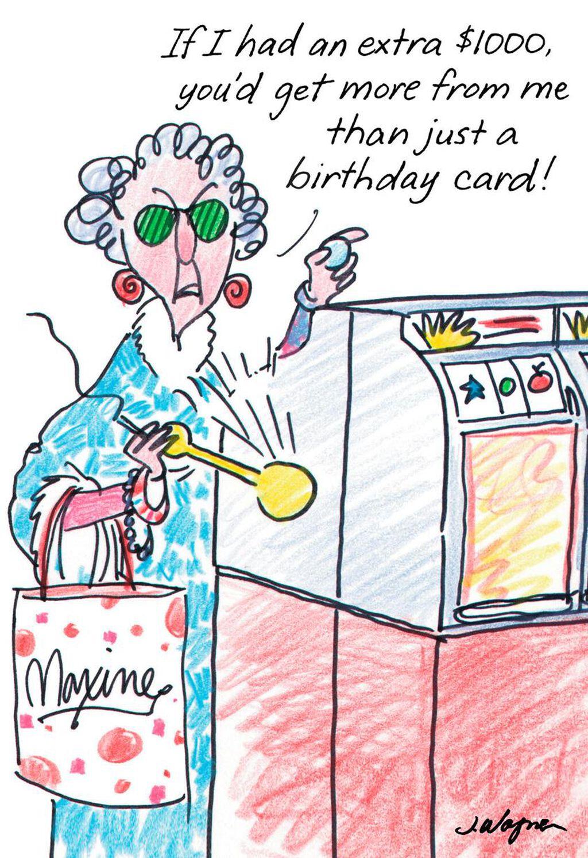 MaxineTM Postcard From Hawaii Funny Birthday Card