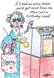 Maxine™ Postcard From Hawaii Funny Birthday Card,
