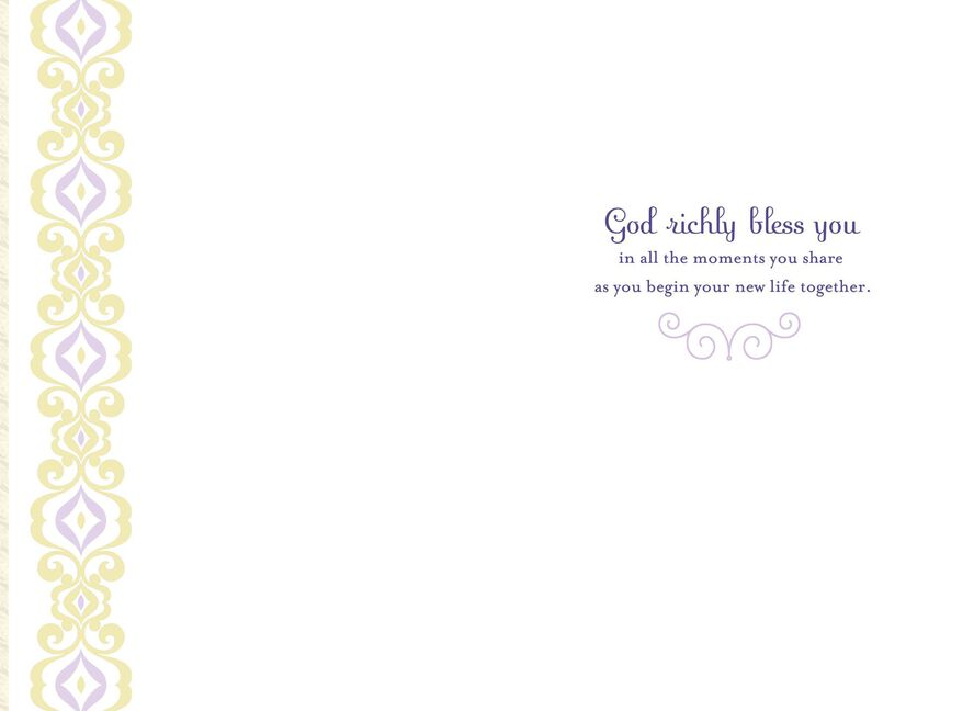 Moments Are God S Gifts Religious Wedding Card Greeting Cards
