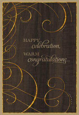 Formal Flourish Congratulations Card