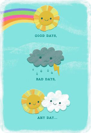 Sun and Clouds Any Day Love Card