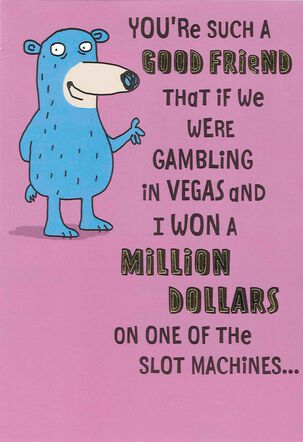 Slot Machine Funny Friendship Card