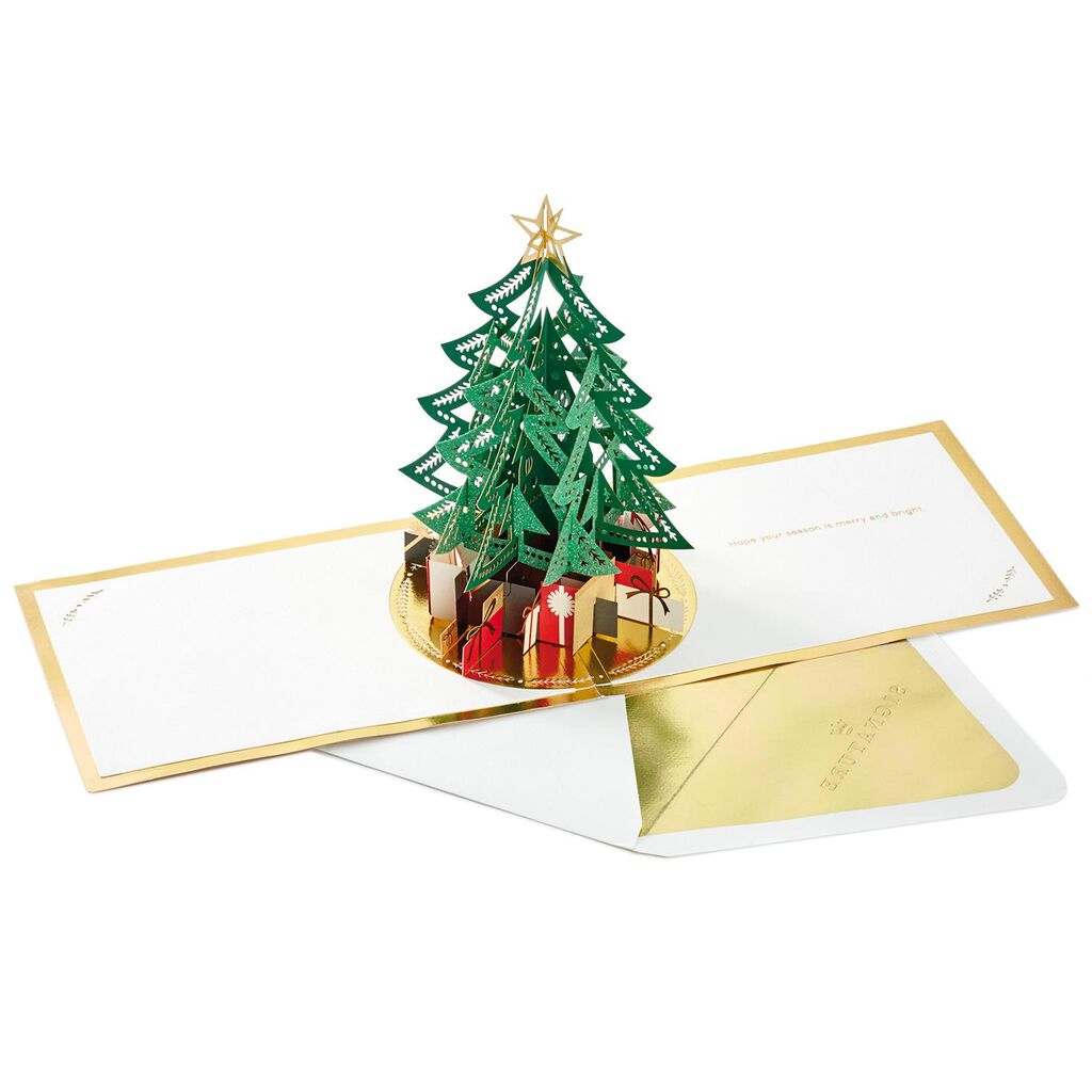 Tree With Presents 3d Pop Up Christmas Card Greeting Cards Hallmark