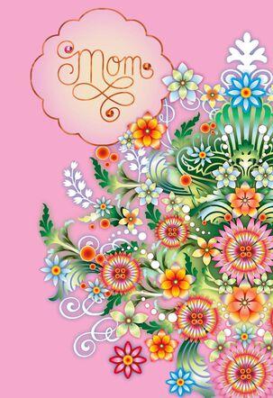 Catalina Estrada Floral Burst Mother's Day Card
