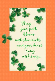 Blooming Shamrocks St. Patrick's Day Card,