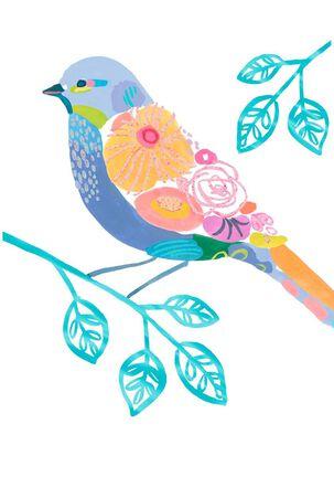 Floral Bird Friendship Card