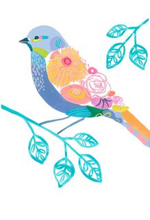 Floral Bird Friendship Card,
