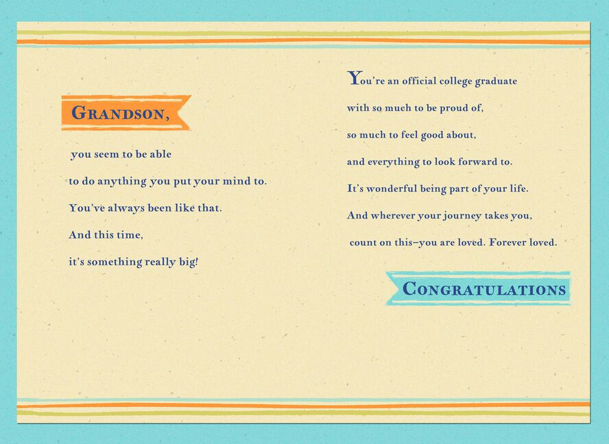 Cityscape College Graduation Card For Grandson Greeting Cards