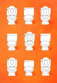 Another Year of Toilet Lid Fights Funny Anniversary Card,