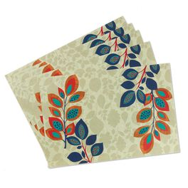 Richness of Autumn Paper Placemats, Set of 16, , large