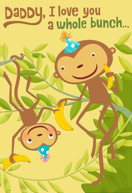 Monkeys On A Tree Birthday Card For Daddy Greeting Cards Hallmark