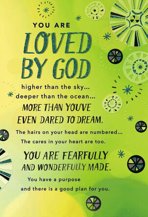 You Are Loved and Accepted Religious Encouragement Card
