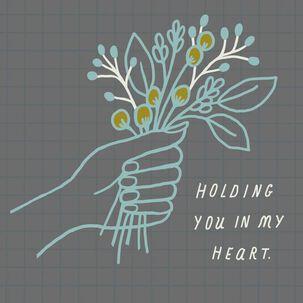 Handheld Flower Bouquet Sympathy Card