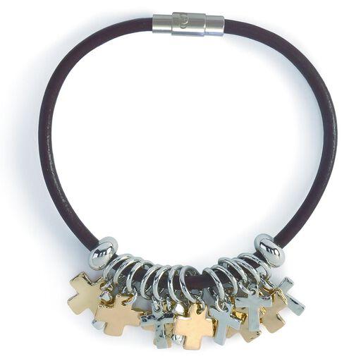 Cross Charms Giving Bracelet, ...