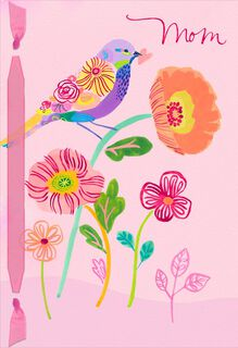 UNICEF Floral Bird Valentine's Day Card for Mom,