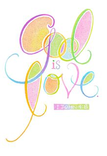 God is Love Religious Easter Card,