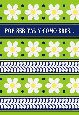 Happy Daisies Spanish-Language Thank You Card