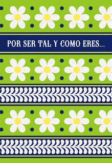 Happy Daisies Spanish-Language Thank You Card,