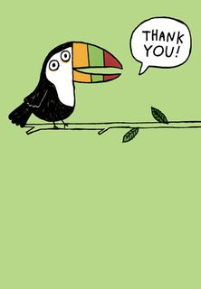 Toucan of Appreciation Funny Thank-You Card,